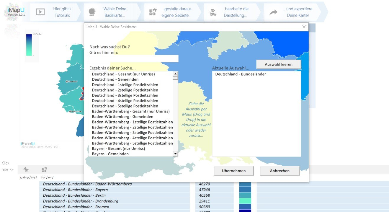Imapu Das Kostenlose Excel Landkarten Tool